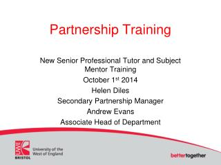 Partnership Training