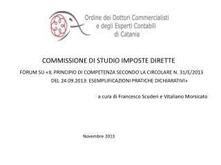 COMMISSIONE DI STUDIO IMPOSTE DIRETTE
