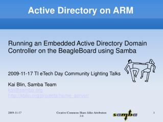 Active Directory on ARM