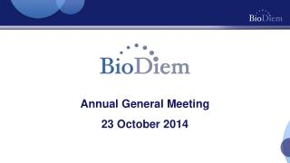 Annual General Meeting 23 October 2014
