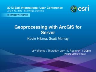 Geoprocessing with ArcGIS for Server