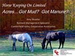 Horse Keeping On Limited Acres Got Mud  Got Manure