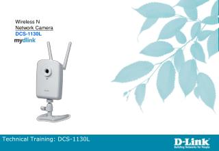 Technical Training: DCS-1130L