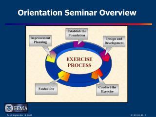 Orientation Seminar Overview