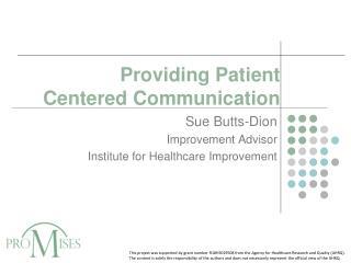 Providing Patient Centered Communication