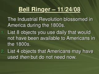 Bell Ringer – 11/24/08