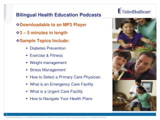 Bilingual Health Education Podcasts