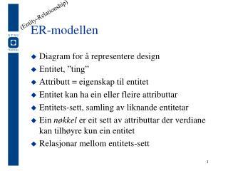 ER-modellen
