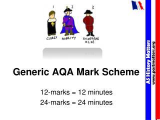 Generic AQA Mark Scheme