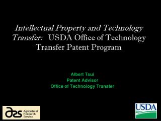 Albert Tsui Patent Advisor Office of Technology Transfer
