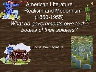 Focus: War Literature