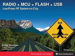 RADIO  MCU  FLASH  USB Low-Power RF System-on-Chip