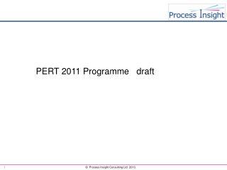 PERT 2011 Programme   draft