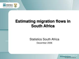 Estimating migration flows in South Africa