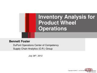Inventory Analysis for Product Wheel Operations