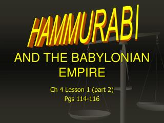 AND THE BABYLONIAN EMPIRE