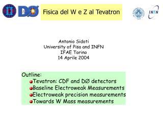 Fisica del W e Z al Tevatron