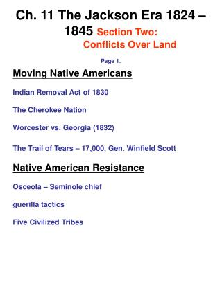 Moving Native Americans Indian Removal Act of 1830 The Cherokee Nation