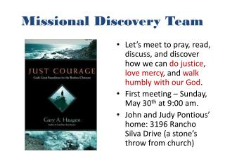Missional  Discovery Team