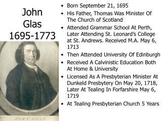 John Glas 1695-1773