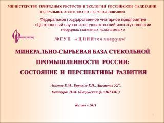 МИНИСТЕРСТВО  ПРИРОДНЫХ РЕСУРСОВ И ЭКОЛОГИИ  РОССИЙСКОЙ  ФЕДЕРАЦИИ