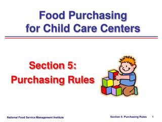 Section 5:   Purchasing Rules