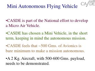 Mini Autonomous Flying Vehicle