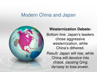 Modern China and Japan
