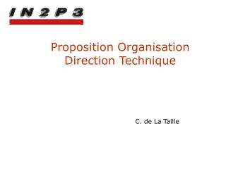 Proposition Organisation  Direction Technique