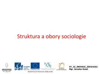 Struktura a obory sociologie