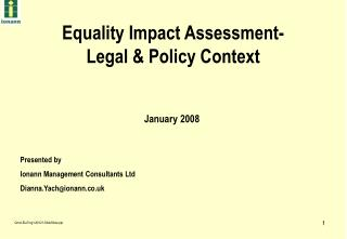Equality Impact Assessment- Legal & Policy Context