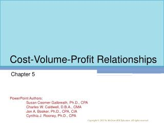 Cost-Volume-Profit Relationships