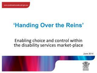 'Handing Over the Reins'