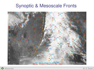 Synoptic & Mesoscale Fronts