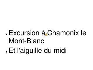 Excursion à Chamonix le Mont-Blanc Et l'aiguille du midi