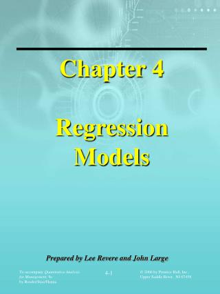 Chapter 4 Regression  Models