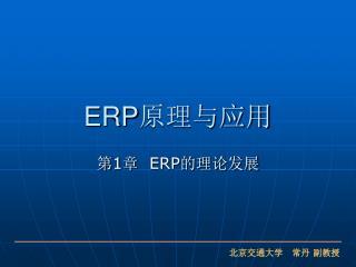 ERP 原理与应用