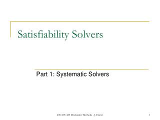 Satisfiability Solvers
