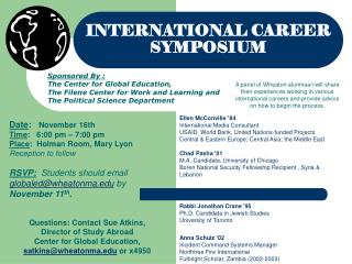 INTERNATIONAL CAREER SYMPOSIUM