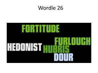 Wordle 26