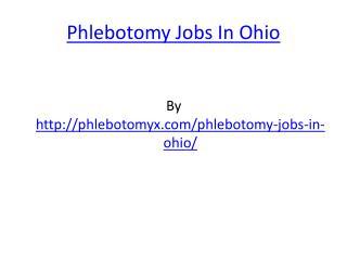 Phlebotomy Jobs In Ohio
