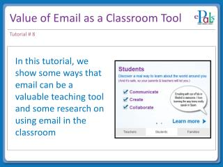 Value of Email as a Classroom Tool