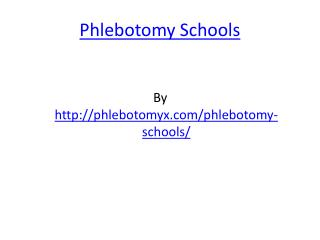 Phlebotomy Schools