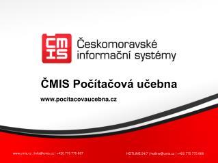 cmis.cz | info@cmis.cz | +420 775 775 667