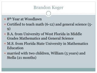 Brandon Koger