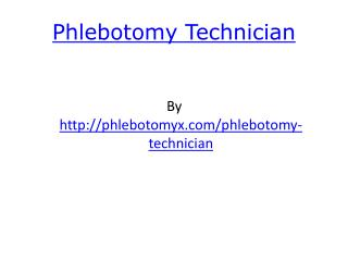 Phlebotomy Techician