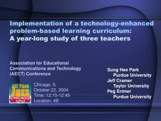 Implementation of a technology-enhanced problem-based learning curriculum:  A year-long study of three teachers