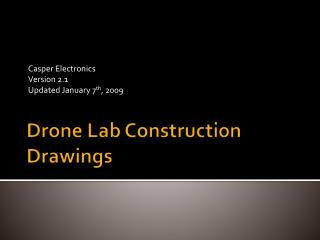 Drone Lab Construction Drawings