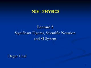 NIS - PHYSICS