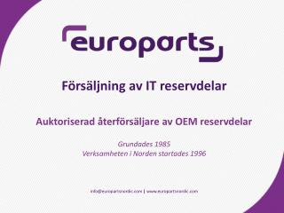 info@europartsnordic  |  europartsnordic